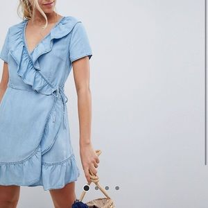 ASOS chambray wrap dress